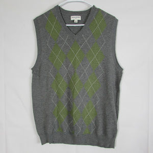 Banana Republic Medium VNeck Sweater Vest Gray